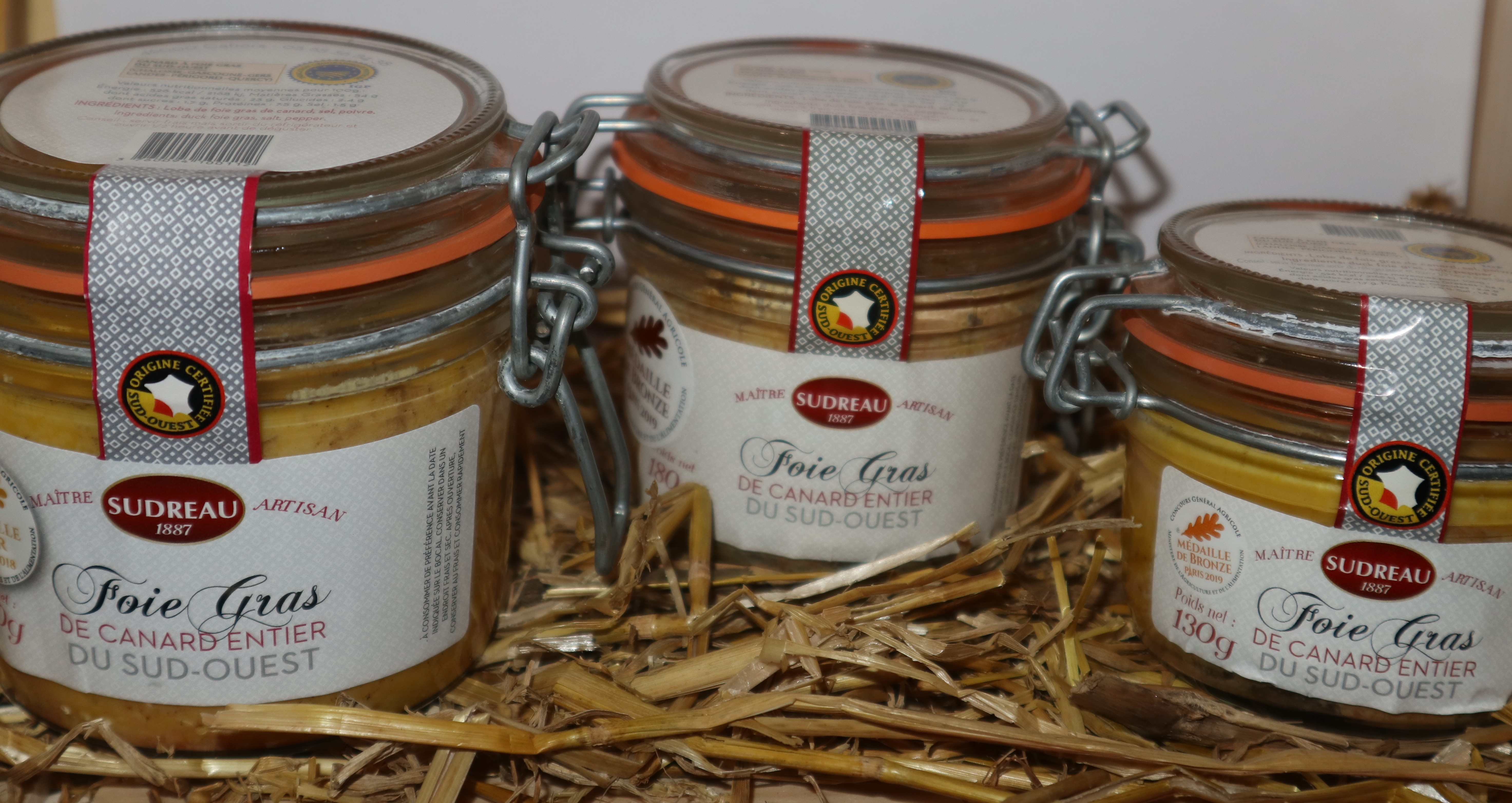 Foie Gras de Canard entier du Sud Ouest IGP Sudreau